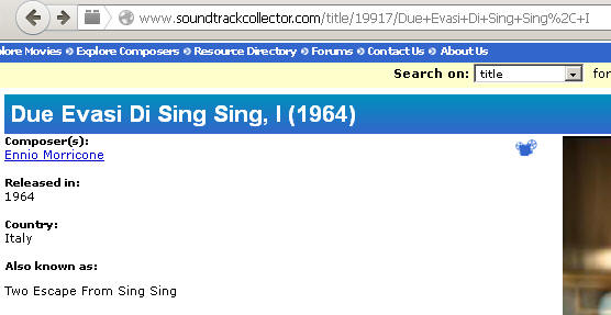 I Due evasi di Sing Sing/Two Escape from Sing Sing